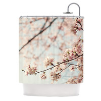 KESS InHouse Japanese Blossom Polyester Shower Curtain