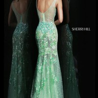 Beaded Long Gown by Sherri Hill
