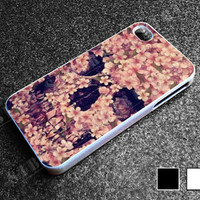 Floral Sugar Skull for iphone 4/4s case, iphone 5/5s/5c case, samsung s3/s4 case cover in sibiru