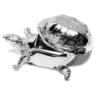 Box Turtle Box in Chrome by Areaware - Pop! Gift Boutique