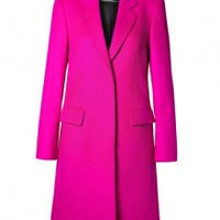 Pink Wool and Cashmere Coat by Paul Smith Black