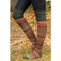 Sock It To Me Boot Socks-Forest