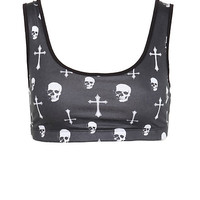 Skull Cross Sports Bra