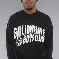Billionaire Boys Club The Astronaut Crewneck Sweatshirt in Black hood ,Sweatshirts for Men