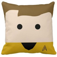 Handmade Star Trek Capt Kirk Pillow