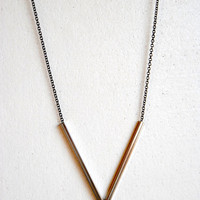 Skinny Bar Necklace - Handmade Jewelry - Free Shipping in the US - Holiday Jewelry / Christmas Gifts