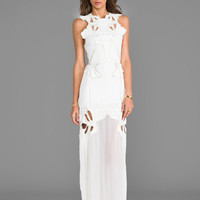 Alice McCall River by the Rock Maxi Dress in White