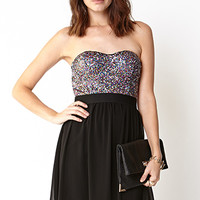 Disco Doll Strapless Dress