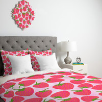 Lisa Argyropoulos Strawberry Sweet In Pink Duvet Cover