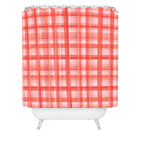 Lisa Argyropoulos Country Plaid Vintage Red Shower Curtain