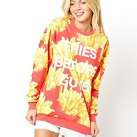 ASOS Sweatshirt with Fries Before Guys Print