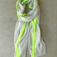 Yellow Highlighter Scarf [3938] - $16.00 : Vintage Inspired Clothing & Affordable Dresses, deloom | Modern. Vintage. Crafted.