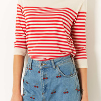 Half Sleeve Bretton Stripe Top