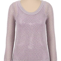 shimmer chunky open stitch sweater