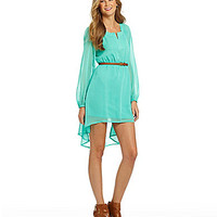 GB Belted Hi-Low Dress | Dillards.com