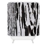 Caleb Troy Splintered Maze Shower Curtain