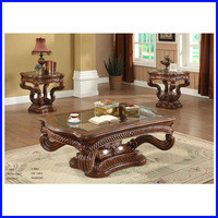 Source New Fancy Glass Wood Ethnic Coffee Table C-8003 on m.alibaba.com