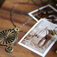 Penny Farthing Antique Bicycle Necklace free by ChristineDomanic