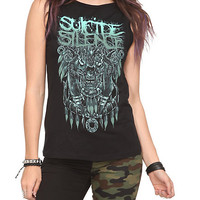 Suicide Silence Skull Slash Sleeveless Girls T-Shirt