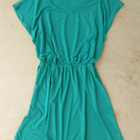 Emerald Green Hometown Dress [4721] - $34.00 : Vintage Inspired Clothing & Affordable Dresses, deloom | Modern. Vintage. Crafted.