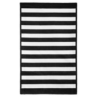 Capel Cottage Stripe Rug, Black