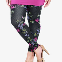 Rose & Polka Dot Print Leggings | Torrid