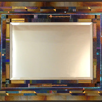 Belvedere by Thomas Meyers: Art Glass Mirror | Artful Home
