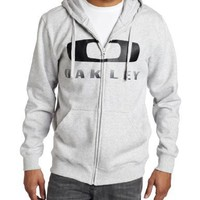 Oakley Men's Brackley Square Full Zip Hoodie, Light Heather Grey, X-Large