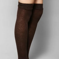 Fold-Over Cuff Over-The-Knee Sock - Urban Outfitters