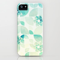Flowers and Snowflakes Pattern iPhone & iPod Case by VessDSign