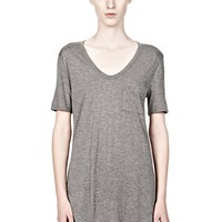 Heather Grey Classic Tee With Pocket - Alexander Wang