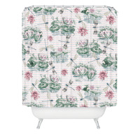 Belle13 Water Lily Lake Shower Curtain