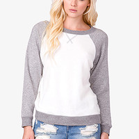 Contrast French Terry Pullover
