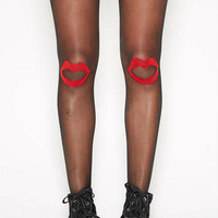 Kiss Print Tights