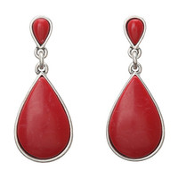 Lucky Brand Post Stone Drop Earrings