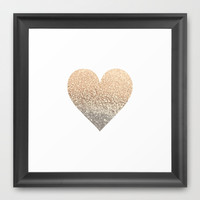GATSBY GOLD HEART Framed Art Print by Monika Strigel in more SIZES and FRAME COLORS!