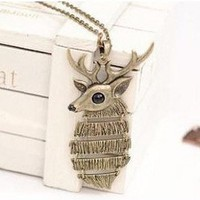 Deer Necklace, Antelope Animal Necklace
