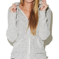 Zip Front Marled Sweater | Wet Seal