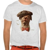 Smoking Bull Dog tie T-shirt