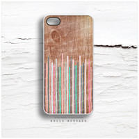 iPhone 5 Case Wood Print, iPhone 5s Case Geometric, iPhone 4 Case, iPhone 4s Case, Geometric Lines iPhone Case, Wood iPhone Cover I118