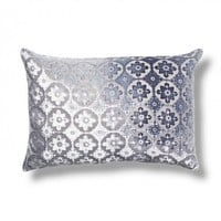Kevin O'Brien Silver Small Moroccan Velvet Pillow