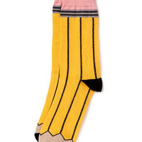Yellow Pencil Socks - New In