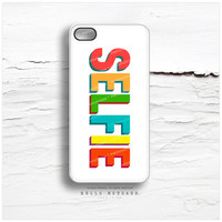 iPhone 5 Case SELFIE, iPhone 5s Case Selfie Print, iPhone 4 Case, iPhone 4s Case, Selfie iPhone Case, Multicolor iPhone Cover N36