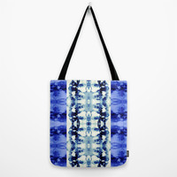 Tie Dye Blues Tote Bag by Nina May