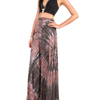 Fold Over Tie Dye Skirt