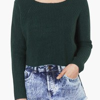 Topshop Ribbed Crop Sweater | Nordstrom