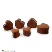 Heart Shaped Wooden Plugs | Single Flare Plugs | UrbanBodyJewelry.com