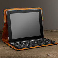 Artisan Leather Hard Shell iPad® Cover with Bluetooth® Keyboard – Camel