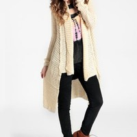 Log Cabin Open Knit Cardigan