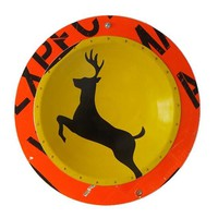 Deer X Ing D P W Platter by Boris Bally: Metal Wall Art | Artful Home